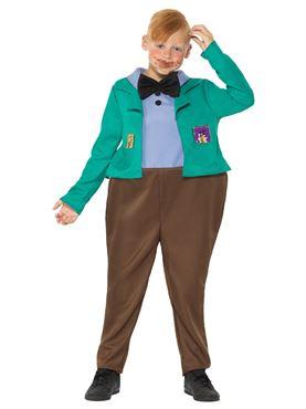 Child Roald Dahl Augustus Gloop Costume - Side View