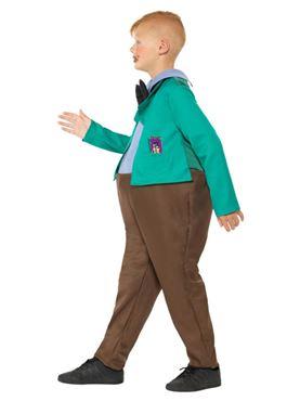 Child Roald Dahl Augustus Gloop Costume - Back View