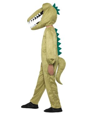 Child Roald Dahl Enormous Crocodile Costume - Back View