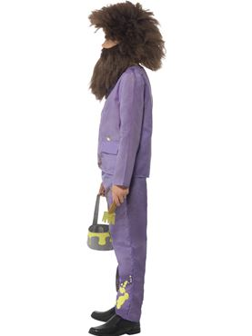Child Roald Dahl Mr Twit Costume - Back View