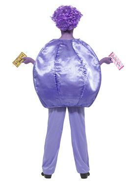 Child Roald Dahl Violet Beauregarde Costume - Side View