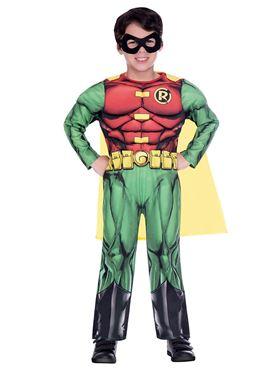 Child Robin Classic Costume - Back View