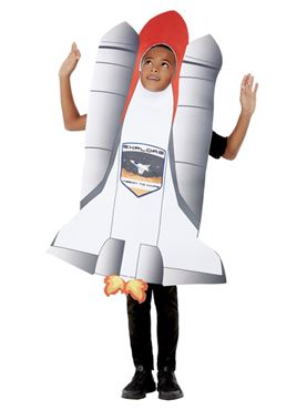 Child Rocket Costume - Back View