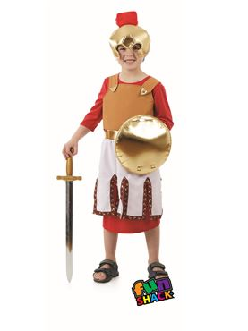 Child Roman Soldier Costume - Back View