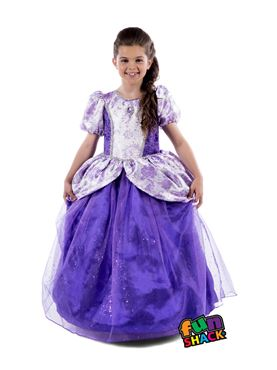 Child Royal Ball Gown Charlotte Costume - Back View