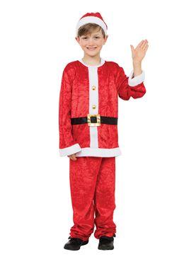 Child Santa Boy Costume