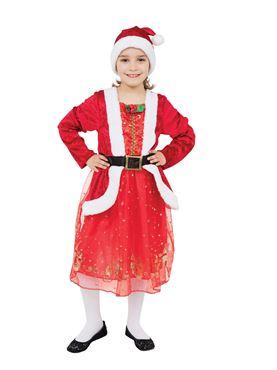 Child Santa Girl Costume