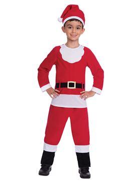 Child Santa Suit Costume - Back View