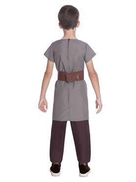 Child Saxon Boy Costume - Back View