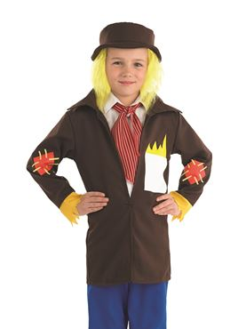 Child Scarecrow Boy Costume - Back View