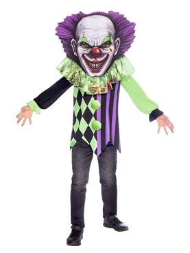 Child Scary Clown Big Head Costume