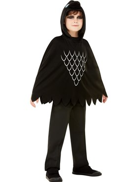 Child Scary Crow Poncho