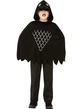 Child Scary Crow Poncho - Back View