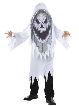 Child Screaming Ghost Mad Creeper Costume