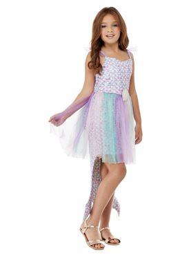 Child Seashell Mermaid Costume - Back View