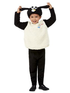 Child Shaun the Sheep Timmy Costume - Back View