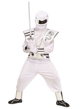 Child White Mirror Ninja Costume