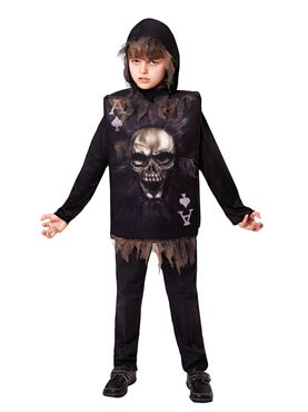 Child Skeleton Boy Tabard & Hood Couples Costume
