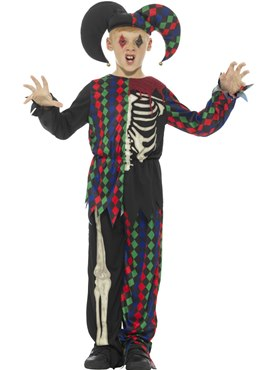 Child Skeleton Jester Costume