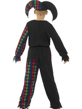 Child Skeleton Jester Costume - Side View