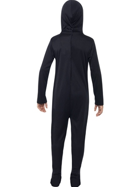 Child Skeleton Onesie Costume - Side View