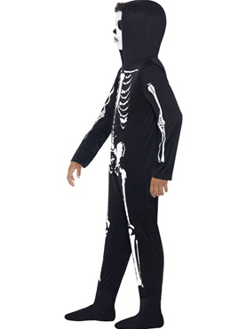 Child Skeleton Onesie Costume - Back View