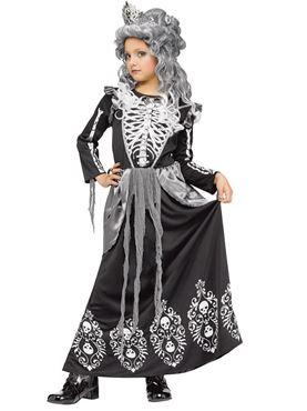 Child Skeleton Queen Costume