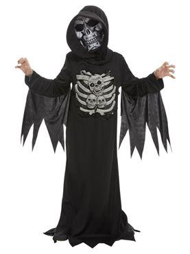 Child Skeleton Reaper Costume - Back View