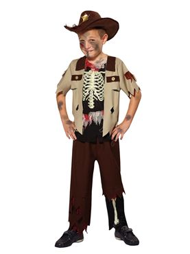 Child Skeleton Sheriff Costume