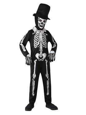 Child Skeleton Bone Costume