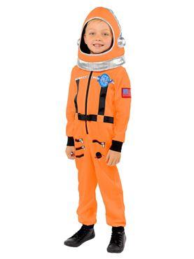 Child Space Suit Orange Costume Couples Costume