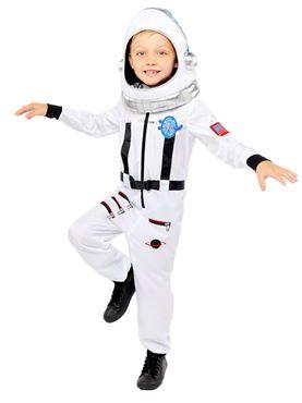 Child Space Suit White Costume
