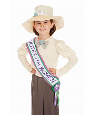 Child Suffragette Costume - Back View