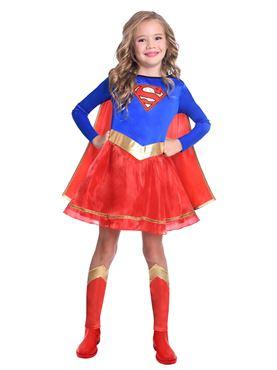 Child Supergirl Classic Costume Couples Costume