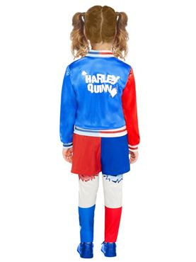 Child Superhero Harley Quinn Costume - Side View