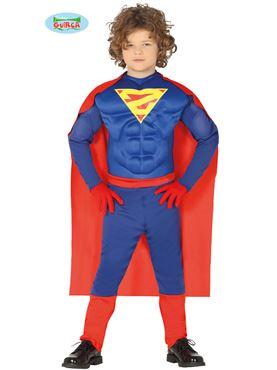 Child Superhero Muscles Costume