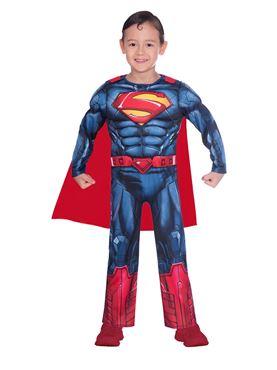 Child Superman Classic Costume - Back View