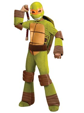 Child Teenage Mutant Ninja Turtles Deluxe Michaelangelo Costume