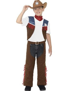Child Texan Cowboy Costume - Back View