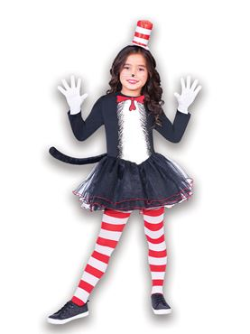 Child The Cat in the Hat Dress Set Costume Couples Costume