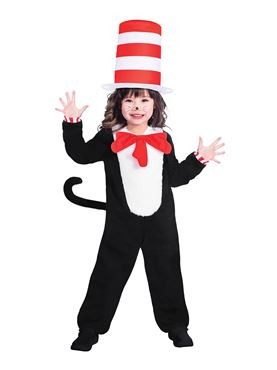 Child The Cat in the Hat Jumpsuit Costume
