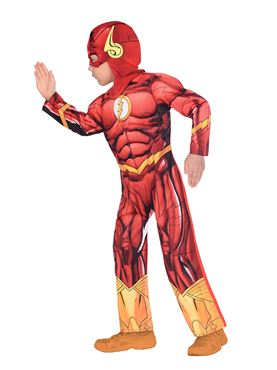 Child The Flash Costume - Side View