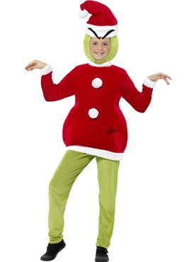 Child The Grinch Costume - Back View