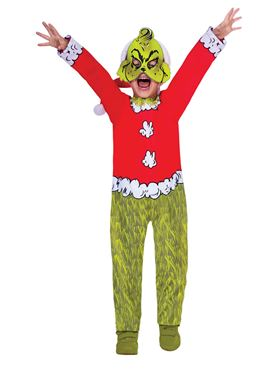 Child The Grinch Costume - Side View