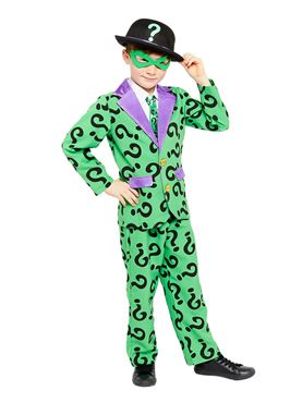 Child The Riddler Costume Couples Costume