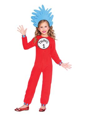 Child Thing One and Two Jumpsuit Costume - Back View