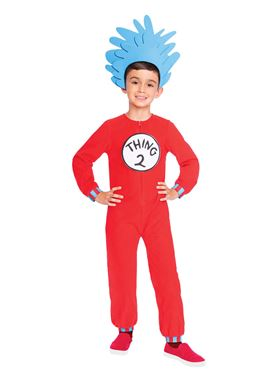 Child Thing One and Two Jumpsuit Costume