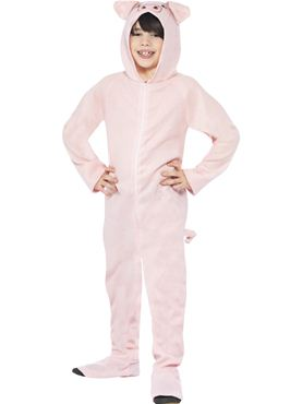 Child Pig Onesie Costume - Back View