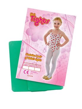 Child Tights - Red Green or White - Back View