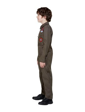 Child Top Gun Costume - Side View